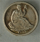 1837 Seated Liberty Half Dime