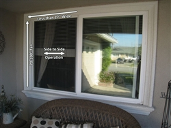 "Window Screen, Side-to-Side, Less than 27"" wide x 70 to 100"" tall"