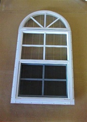 18x27 Arch top window with j-lap