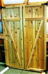 "SET of 24""x72"" Z Cedar Doors"