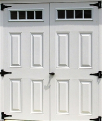 "2-30 1/2"" x 72"" 4 Lite Fiberglass Doors  SHIPPING IS FREE"