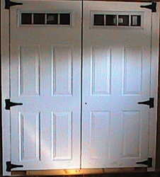 "2-35 3/4"" x 72"" 4 Lite Fiberglass Doors   SHIPPING IS FREE"