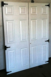 "SET of 27"" x 72""  6 Panel Fiberglass Shed doors  PRICE INCLUDES SHIPPING"