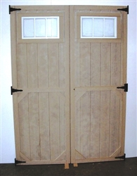 SET of Standard Doors With Transom Windows