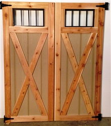 XBUCK DOORS With Transom Windows