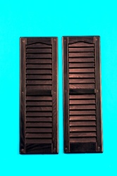 Black Louvered Shutters