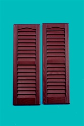 "9""x27"" Burgandy Louvered Shutters"