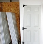 "1-30 1/2"" x 72"" 6 panel fiberglass door   SHIPPING IS FREE"