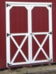 Set of Wood Shed Doors  (Cross Buck Design)  CLICK PICTURE FOR MORE DETAILS.