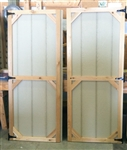 SET of Wood Shed Doors Cedar Trim (Corner Block Design)  CLICK PICTURE FOR MORE DETAILS.