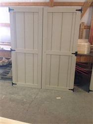 SET of  Wood Shed Doors  (Standard Design)   CLICK PICTURE FOR MORE DETAILS.