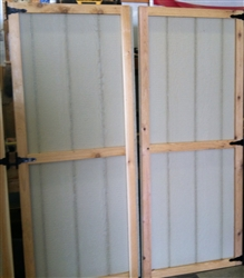 SET of  Wood Shed Doors II { Standard  Design Cedar Trim)   CLICK PICTURE FOR MORE DETAILS.