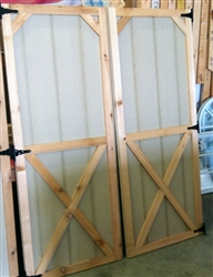 Set of Wood Shed Doors  (Cross Buck Design Cedar Trim)  CLICK PICTURE FOR MORE DETAILS.