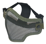 Airsoft Tactical gear wholesale distributor dropshipper TG008CG-5 Green Metal Mesh Half Face Mask (5 pcs) - 3L-INTL