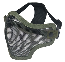 Airsoft Tactical gear wholesale distributor dropshipper TG008CGS-5 Green Skull Metal Mesh Half Face Mask (5 pcs) - 3L-INTL