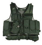 TG100BL Black Deluxe Tactical Vest Left Handed - 3L-INTL