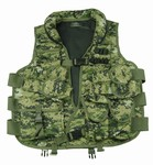 TG102W Woodland Digital Camo Soft Collar Tactical Vest - 3L-INTL