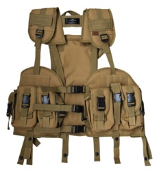 TG103T Tan Tactical Vest with Removable Hydration Pouch - 3L-INTL