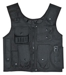 TG106B Black Adjustable Quilted Tactical Vest - 3L-INTL