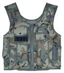 TG106C Woodland Camo Adjustable Quilted Tactical Vest - 3L-INTL