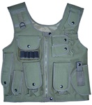 TG106G OD Green Adjustable Quilted Tactical Vest - 3L-INTL