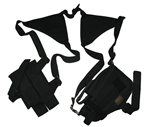 TG208BA-3 Black Horizontal Shoulder Holster and Pouch (3 pcs) - 3L-INTL