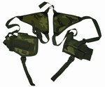 TG208CA Woodland Camo Shoulder Holster with One Holster and One Magazine Pouch - 3L-INTL