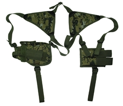 TG208WA-3 Woodland Digital Shoulder Holster with One Holster and One Magazine Pouch (3 pcs) - 3L-INTL