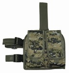 TG211W Woodland Digital Camouflage Double Drop Leg Magazine Pouch - 3L-INTL