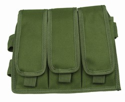 TG212G OD Green Triple Drop Leg Magazine Pouch - 3L-INTL