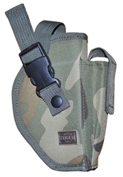 TG218CR-6 Woodland Camo Deluxe Commando Belt Holster Right Handed (6 pcs) - 3L-INTL
