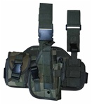 TG221CR Woodland Camouflage Tactical Thigh Holster Right Handed - 3L-INTL