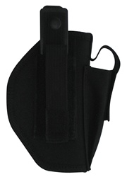 TG223BR-6 Black Fully Adjustable Duty Holster with Mag Pouch Right Handed (6 pcs) - 3L-INTL