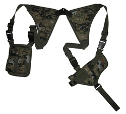 TG235WA Woodland Digital Universal Horizontal Shoulder Holster with Mag Pouches - 3L-INTL