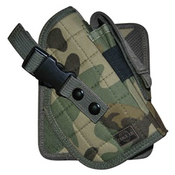 TG244CR Woodland Camouflage MOLLE Cross Draw Holster Right Handed - 3L-INTL