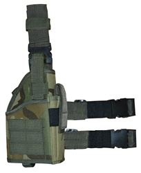 TG246C Woodland Camouflage Tactical Leg Holster with Web Straps - 3L-INTL