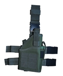 TG246GR OD Green Tactical Leg Holster with Web Straps Right Handed - 3L-INTL