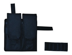 TG247B-4 Black Velcro Attachable Double Magazine Pouch (4 pcs) - 3L-INTL