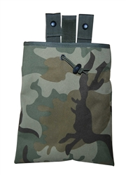 TG271C-3 Woodland Camo 3-fold Mag Recovery / Dump Pouch (3 pcs) - 3L-INTL