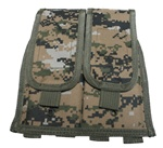 TG302W-4 Woodland Digital MOLLE Universal Double Rifle Magazine Pouch (4 pcs) - 3L-INTL