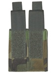 TG304C-4 Woodland Camouflage MOLLE Double Pistol Mag Pouch (4 pcs) - 3L-INTL