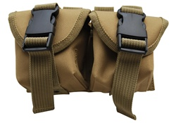 TG306T Tan MOLLE Hand Grenade Pouch - 3L-INTL