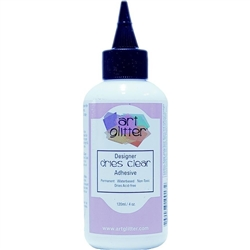 "Art Institute Glitter Adhesive -"" Dries Clear"" Adhesive 4oz (120 ml)"