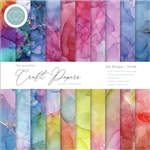 Craft Consortium -  Double-Sided 6X6 Paper Pad Ink Drops - Vivid