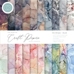 Craft Consortium -  Double-Sided 6X6 Paper Pad Ink Drops - Dusk