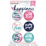 Cocoa Vanilla - Happiness Flair Buttons