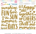 Cocoa Vanilla - Sunkissed Gold Glitter Foam Titles