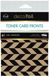 Deco Foil - Kraft Toner Sheets A2 Chic Chevrons