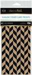 Deco Foil - Kraft Toner Sheets 4x9 Slimline Chic Chevrons