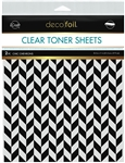Deco Foil - Clear Toner Sheets 8.5X11 Chic Chevrons